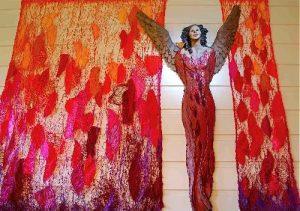 Ingun Dahlin utstilling red veggengel